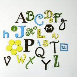 Linksmoji angliška abėcėlė – Gamtos spalvos